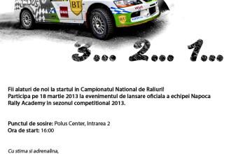 Pilotii Napoca Rally Academy isi prezinta echipajele pentru sezonul competitional 2013