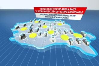 Reforma din sanatate ar putea imparti Romania in opt regiuni.