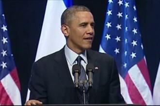 Discursul lui Obama despre relatiile cu Palestina pentru care a fost huiduit de studentii din Israel