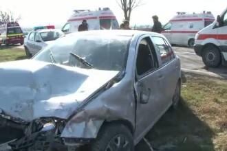Baut si fara carnet, un sofer din Tulcea a provocat un accident grav, soldat cu cinci raniti