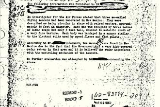 FBI rupe tacerea in cazul celui mai controversat document din arhiva, legat de extraterestri