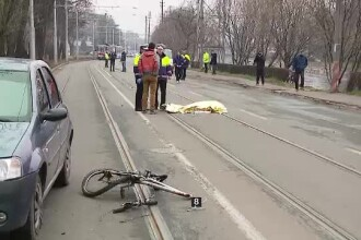 Accident rutier soldat cu un mort in Cluj. Un sofer beat a spulberat un biciclist de 72 de ani, apoi a fugit
