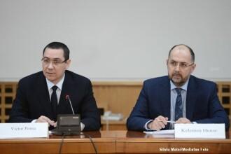 """Ponta spune că UDMR şi Liviu Dragnea au făcut """"o înţelegere politică asimetrică"""""""