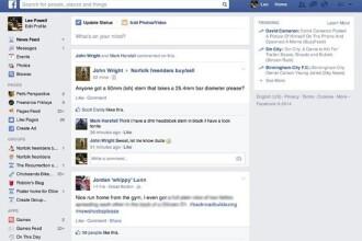 Facebook introduce un nou design al interfetei web. Unele conturi au fost deja actualizate