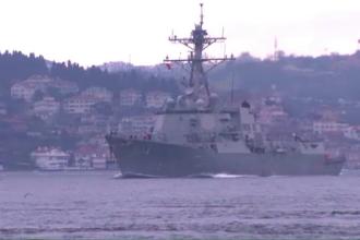 Distrugatorul la bordul caruia a fost filmat
