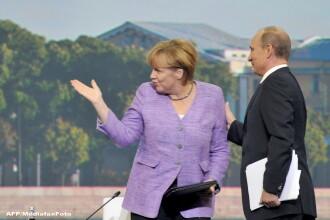 Angela Merkel i-a cerut lui Vladimir Putin sa nu destabilizeze Republica Moldova. Ce au discutat cei doi lideri la telefon