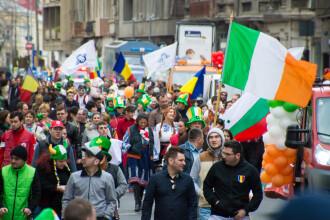 GALERIE FOTO. Irlandezii au oferit un spectacol de muzica si culori pe strazile din Capitala la parada de St Patrick's Day
