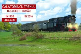 Experiment Stirile ProTV. In cat timp ajungi acum de la Bucuresti la Buzau cu trenul si cat dura aceasta calatorie in 1938
