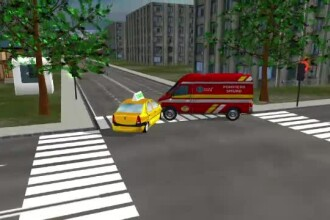 Animatie grafica StirileProTV. Filmul accidentului din Capitala, in urma caruia un barbat de 30 de ani a murit