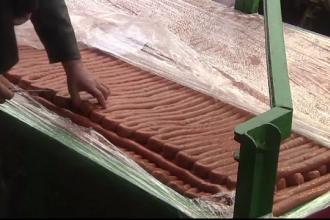 Macelarii sarbi au preparat cel mai lung carnat din lume, de peste 2 km. A fost gatit din 3500 kg de carne