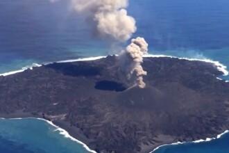 Eruptia unui vulcan a dat nastere unei noi insule, in Oceanul Pacific. Formatiunea geologica se afla la 1.000 km de Tokyo