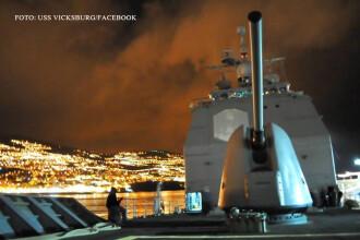 Rusia isi testeaza noile avioane de lupta pe o nava americana. Scenariul de RAZBOI care se desfasoara in Marea Neagra