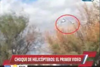 Momentul in care cele doua elicoptere s-au lovit in Argentina a fost filmat. Trei mari sportivi se numara printre victime