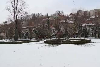 Orasul din Romania in care, la mijloc de martie, a nins ca in povesti. Stratul de zapada are peste 10 centimetri