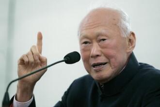 Lee Kuan Yew, fondatorul statului modern Singapore, a murit la varsta de 91 de ani