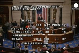 Camera Reprezentantilor a votat in favoarea trimiterii de arme letale Kievului. Reactia lui Barack Obama