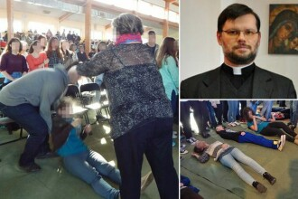Ritual desprins parca din secolul trecut. Exorcism in masa la o tabara scolara din Polonia. Preotul voia sa