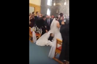 Mireasa planuise intrarea perfecta in biserica, dar nimeni nu se astepta la ce a urmat. Cum a reactionat tanara: VIDEO