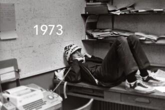 Bill Gates in aceeasi ipostaza: 1973 versus 2016. FOTO