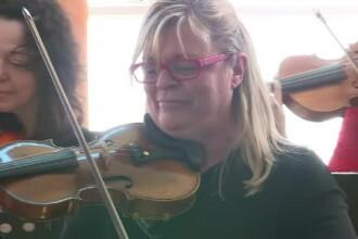 Una dintre cele mai faimoase violoniste din lume a revenit in Romania pentru a le canta oamenilor sarmani