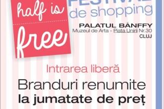 """Iubitoarele de moda au motive de bucurie. La Cluj-Napoca va avea loc in weekend Festival de shopping """"Half is Free"""""""