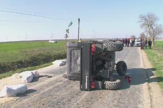 Un barbat din judetul Constanta a murit strivit de ATV-ul cu care mergea la serviciu. Relatarile pasagerului din dreapta