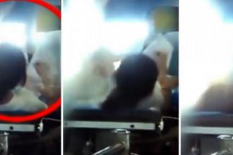 O pacienta a fost batuta pe masa de operatie de o doctorita falsa. Incidentul a fost filmat si a ajuns pe internet. VIDEO