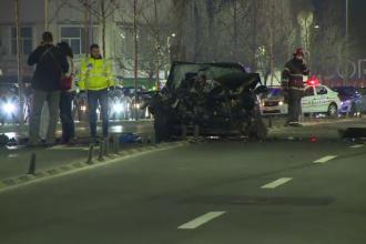 O soferita de 19 ani a intrat cu masina intr-un camion, chiar in centrul Capitalei. Ce a facut tanara imediat dupa accident