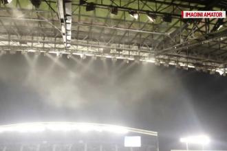 Momente de panica la meciul Romania - Spania, dupa ce un coridor a fost invadat de fum. Cum a pornit incendiul pe Cluj Arena