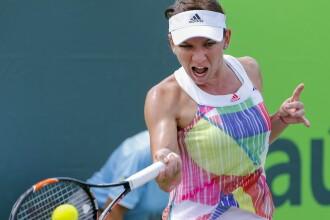 Simona Halep, eliminata din turneul WTA de la Miami de elvetianca Timea Bacsinszky, numarul 20 mondial