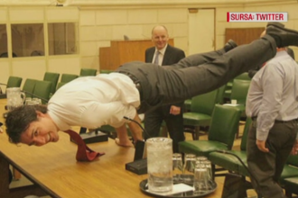 Poza prin care premierul Canadei ii face concurenta lui Vladimir Putin pentru titlul de