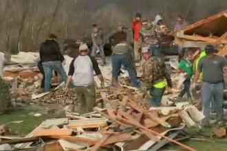 Trei persoane au murit in SUA, iar alte cateva sute au ramas fara case din cauza tornadelor.
