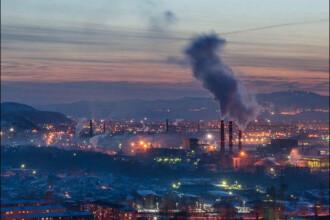 Poluarea dintr-un oras din Rusia,