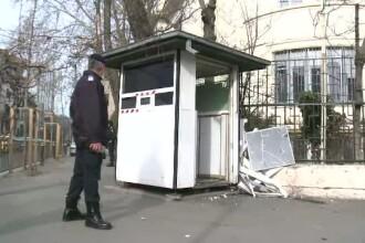 Incident in fata Ambasadei Egiptului din Capitala. Un taximetru a intrat in ghereta jandarmului care pazea cladirea