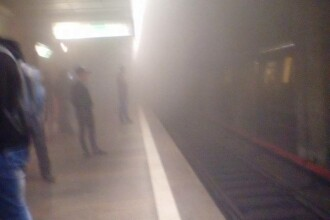 Panica la metrou, dupa ce doua statii au fost cuprinse de fum. Un incendiu s-ar fi produs intre Basarab si Crangasi
