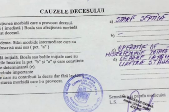 Decesul femeii de 49 de ani din Fagaras a survenit din cauza greselii chirurgului.