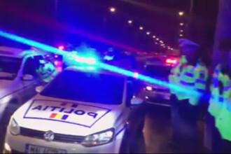 Un sofer s-a blocat in Porsche in centrul Capitalei. Politia l-a scos cu pistoalele
