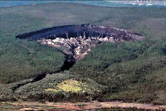 Efectele incalzirii globale: O groapa din Siberia, lunga de un km, creste in fiecare an cu 30m din cauza topirii ghetii