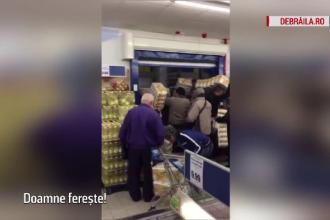 Lupte crancene intr-un magazin din Braila pentru hartie igienica. Oamenii au luat cu asalt pana si depozitul hipermarketului