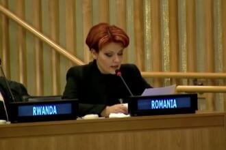 Reactia ministrului Olguta Vasilescu dupa glumele aparute pe seama discursului ei la ONU, in limba engleza. VIDEO