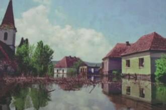 Secarea unui lac de acumulare din Mures scoate la suprafata ruinele unui vechi sat acoperit de ape in anul 1989