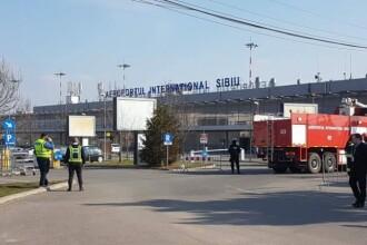 Traficul aerian pe Aeroportul Sibiu a fost reluat. Ce au gasit echipele de interventie in