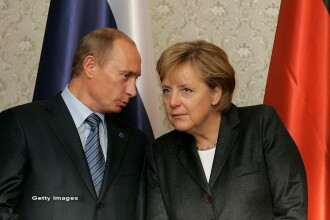 Angela Merkel, intalnire cu Vladimir Putin, la Moscova, pe 2 mai. Ultima vizita a cancelarului german in Rusia, in 2015