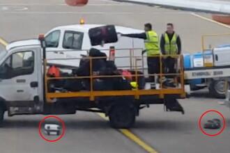 Imagini revoltatoare cu doi angajati ai unui aeroport britanic. Ce au facut cu bagajele pasagerilor. VIDEO