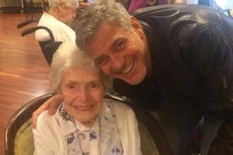 Surpriza pe care George Clooney i-a facut-o unei admiratoare in varsta de 87 de ani
