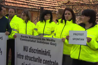 Angajatii Protectiei Mediului si cei ai Garzii de Mediu au intrat din nou in greva.