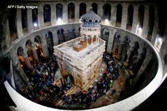 Lucrarile de restaurare a mormantului lui Iisus au fost finalizate. Miercuri, situl va fi redeschis. VIDEO