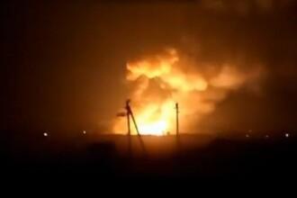 Incendiu masiv la cel mai mare depozit de munitie din Ucraina: explozii si mii de oameni evacuati. Kievul acuza un sabotaj
