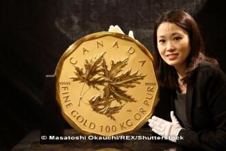 O moneda din aur, de 100 de kg si evaluata la 4 milioane de dolari, a fost furata dintr-un muzeu din Berlin