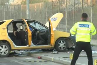 O femeie de 37 de ani, pasagera intr-un taxi, a murit intr-un accident in Bucuresti. Soferul a intrat intr-un parapet